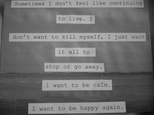 When depression gets bad.